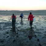 The march out to the oyster lease