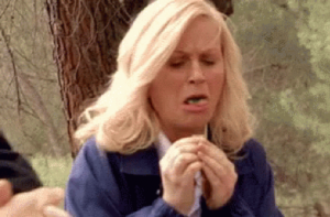 You would be Leslie Knope if you ate a bitter crab.