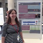 Colleen gives her poster on the California OsHV-1 genome at the at the EEID conference at Cornell University