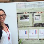 Natalie gives her poster on eelgrass wasting disease at the EEID conference at Cornell University